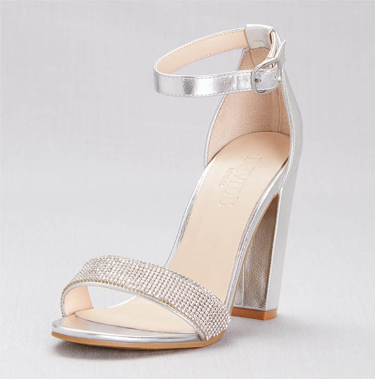 Strappy silver heels for cotillion