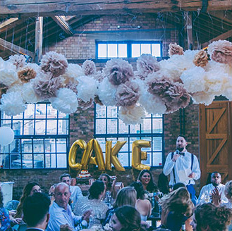 Callie & Dan's Industrial Wedding | Celebratory Wedding Party