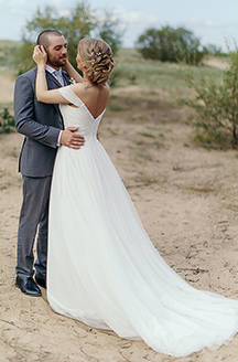 Romantic Beach Wedding | Davids Bridal