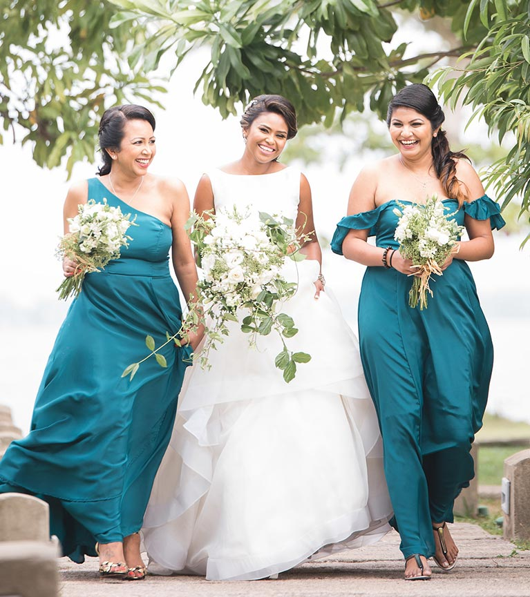 Winter Green Garden Wedding In Sri Lanka