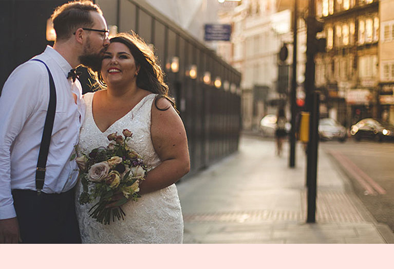 Relaxed industrial wedding in London
