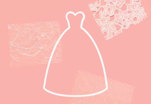 Silhouette of ball gown dress