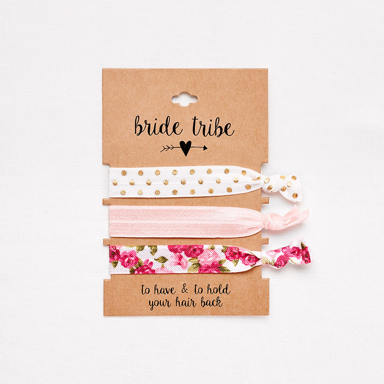 Bride Tribe Ribbon Hair Ties