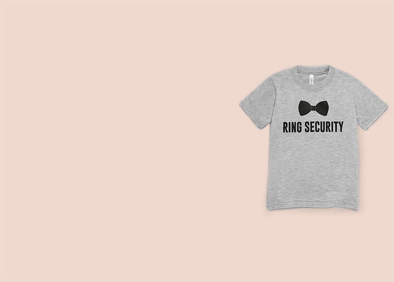 Ring security t-shirt for ring bearer.