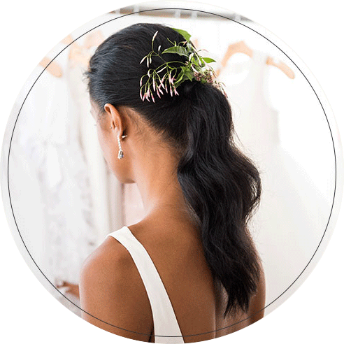 Bridal Hairstyle with Fresh Flowers