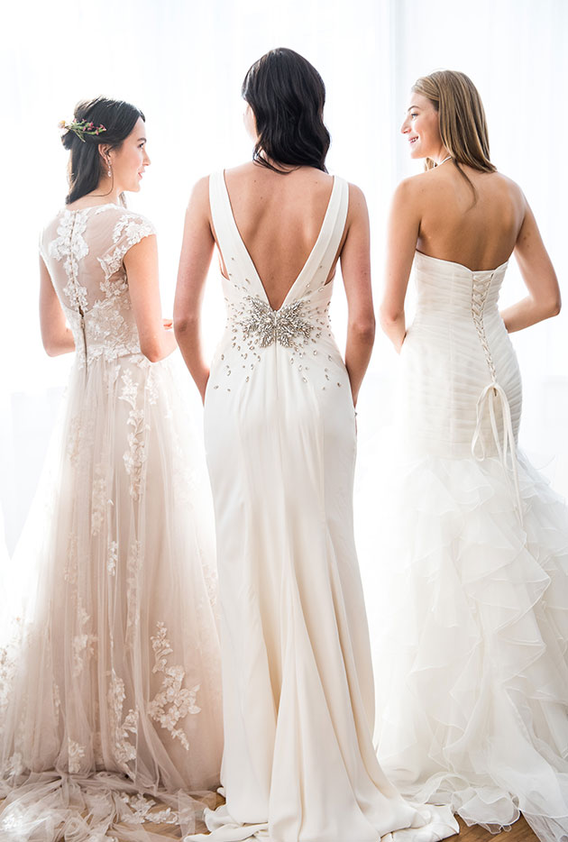 New Bridal Gowns with Back Interest