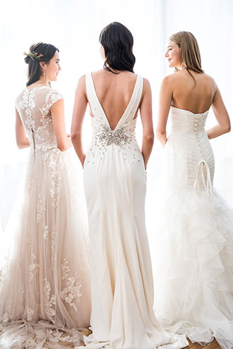 Three New Bridal Gowns with Back Interest