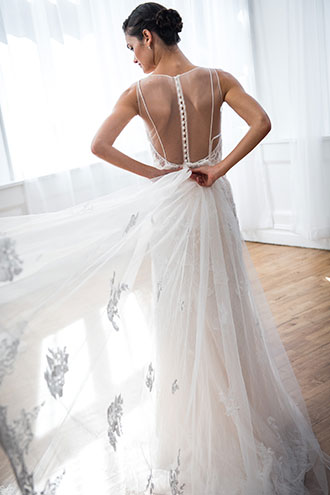 Melissa Sweet Gown with Detachable Train