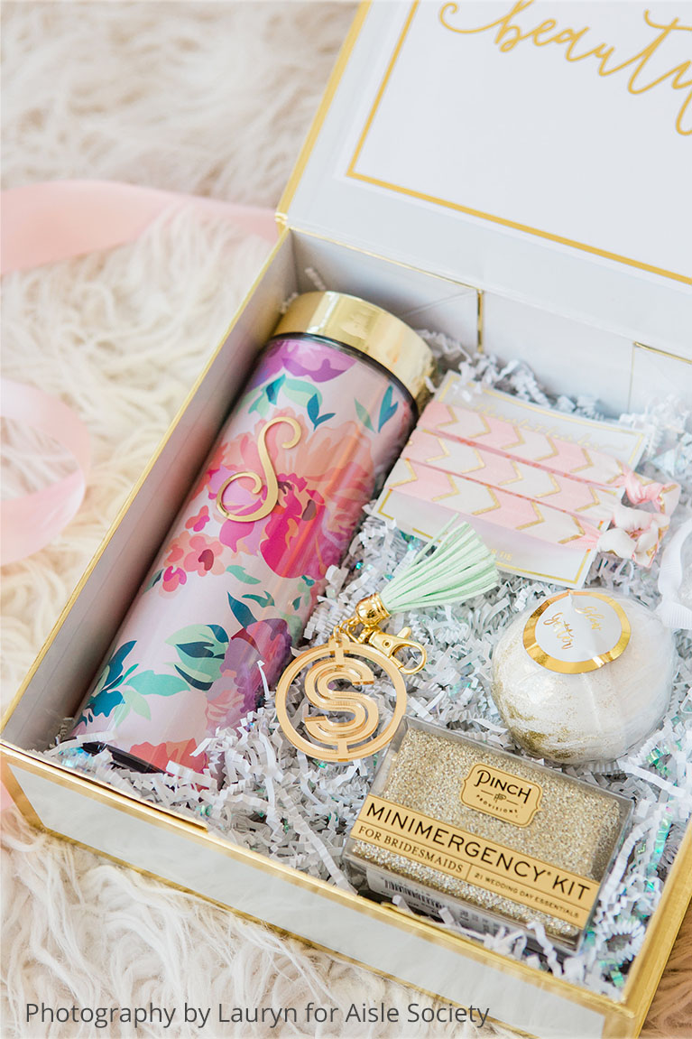 Personalized gifts for your bridesmaids.