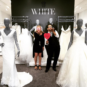 #withakiss at David's Bridal