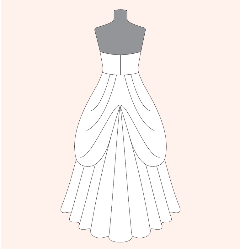 How To Bustle A Wedding Dress David S Bridal