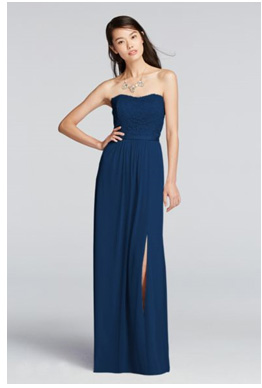 Davids Bridal Navy Dress