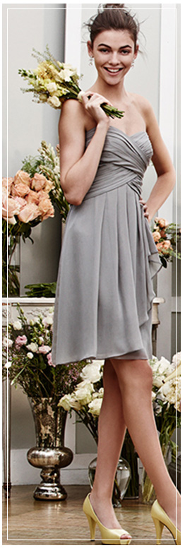 Mercury grey wedding color grey bridal party color davids bridal bridesmaid wearing a mercury grey bridesmaid dresses different styles mightylinksfo