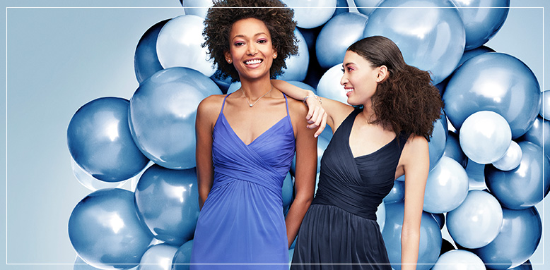 Blue Bridesmaid Dresses, Different Styles