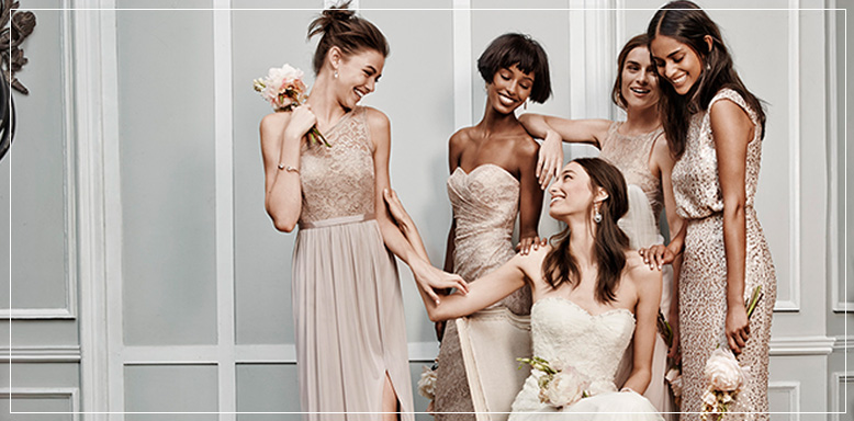Metallic Bridesmaid Dresses Diffe Styles
