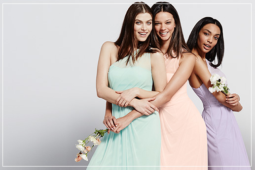 Pastel Bridesmaid Dresses, Different Styles