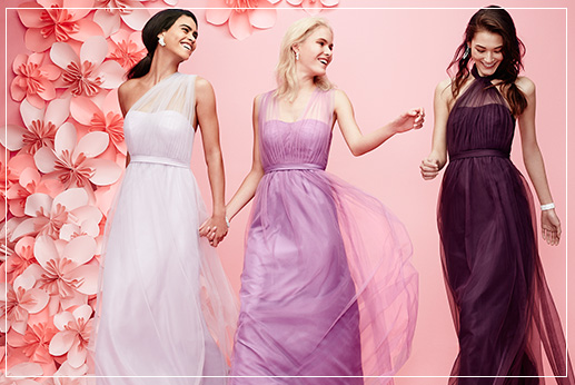 Purple Bridesmaid Dresses, Different Styles