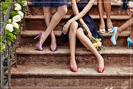 Bridesmaid Shoes, Different Styles
