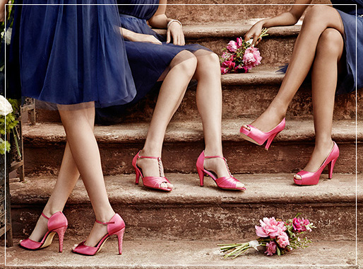 Brightly Colored Bridesmaid Shoes