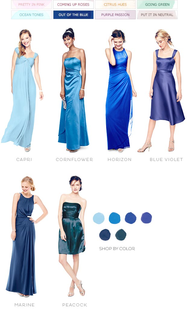 Color Palettes Bridesmaid Dresses By Color Palette David S Bridal