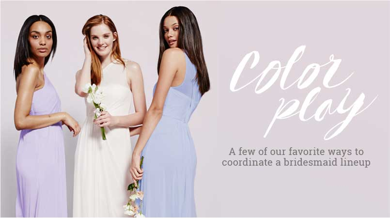 How To Do Same Color, Different Style Bridesmaid Dresses
