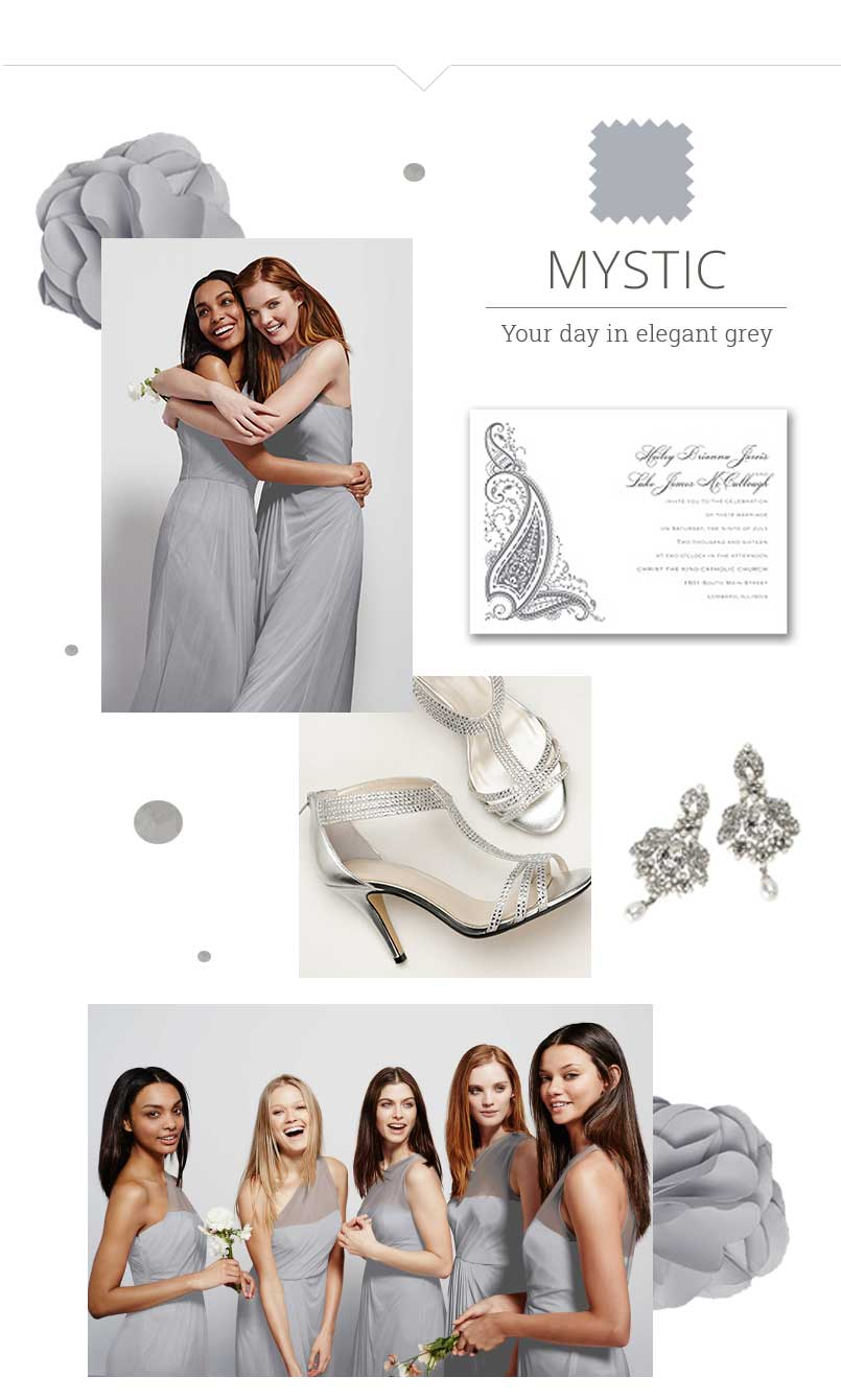 How to do same color different style bridesmaid dresses though a single shade bridal party palette is a wedding standby for a reason you can opt to feature the same color bridesmaid dresses in different styles ombrellifo Image collections