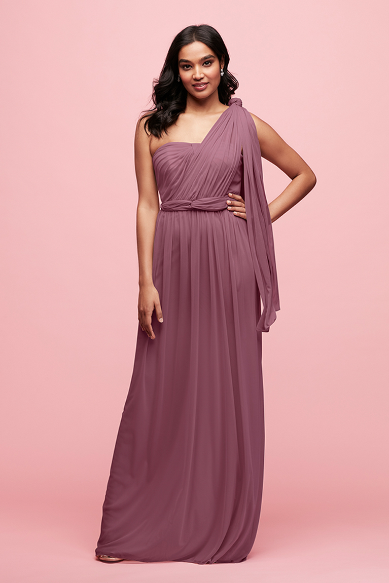Bridesmaid wearing a purple Style Your Way dress