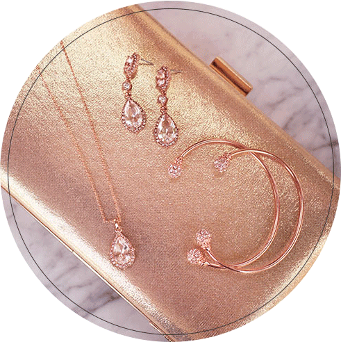 Rose gold wedding accessories