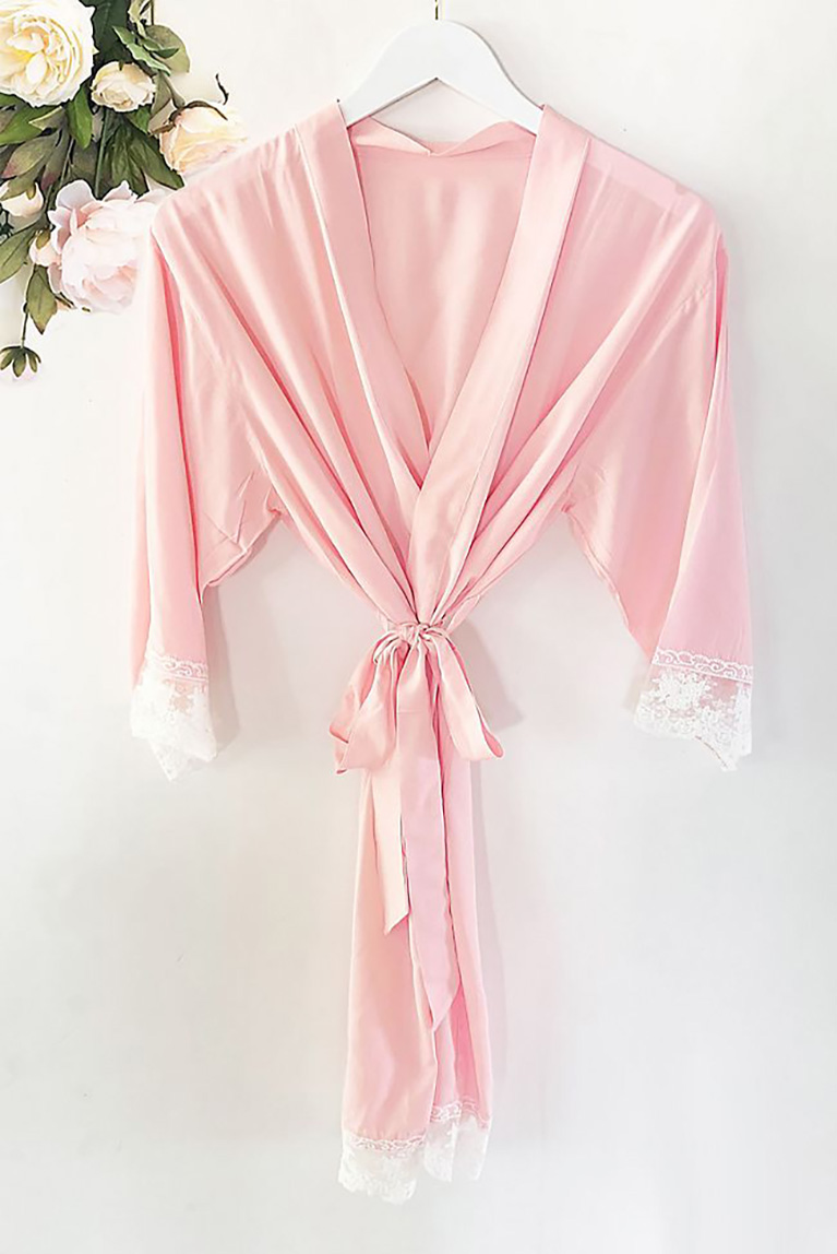 Personalized Name Cotton Lace Robes