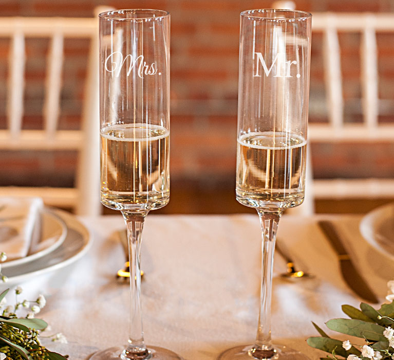 Engagement Party Toasting Flutes