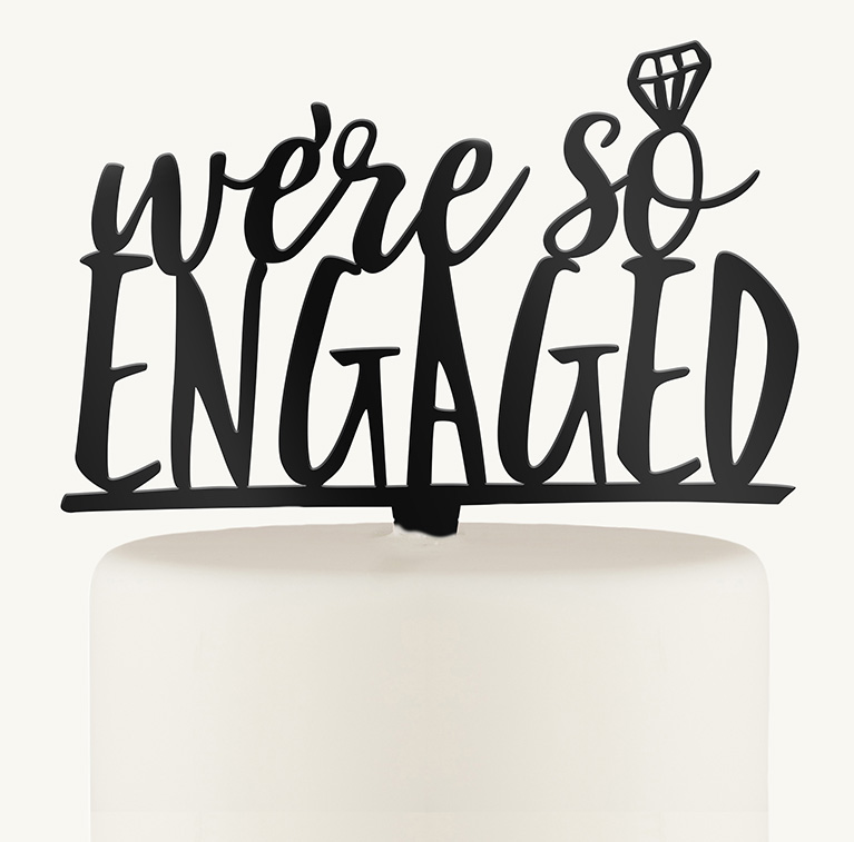 Engagement Party Cake Toppers