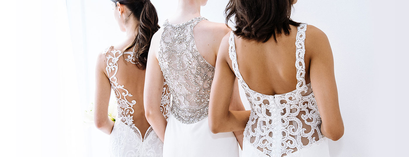 Wedding dresses featuring beautiful back details