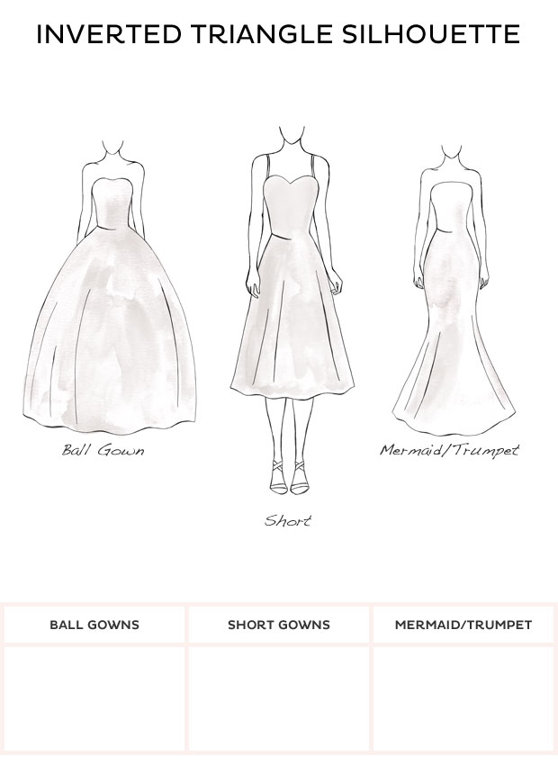 Wedding Dress Style - Inverted Triangle style wedding dresses from ...