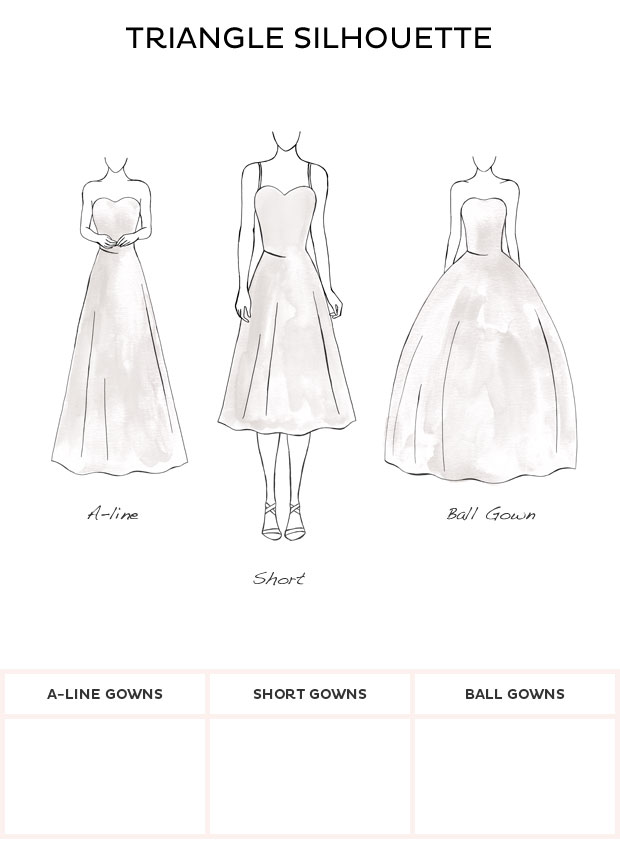 Wedding Dress Style - Triangle style wedding dresses from David\'s Bridal
