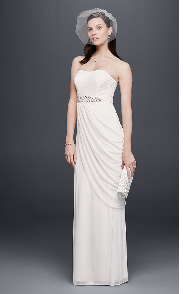 Timeless wedding dress looks on a budget david s bridal for Davids bridal beach wedding dresses