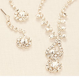Necklace and Earrings Style 139134NE by David's Bridal