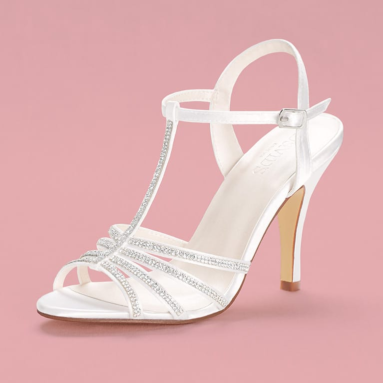 White Strapy Bridal Shoe