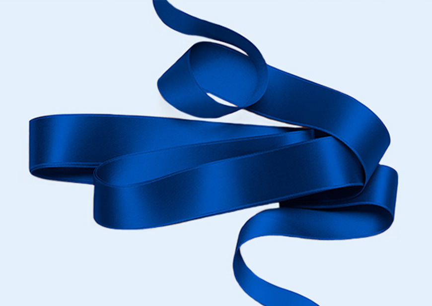 Blue ribbon for bridal bouquets, dress sashes and more
