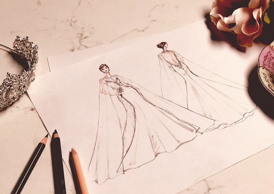 David's Bridal designer sketches predicting Meghan Markle's royal wedding look
