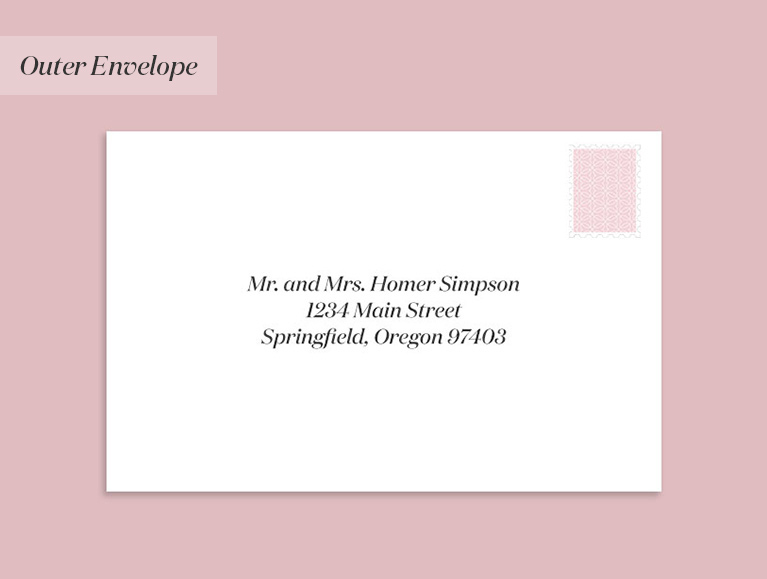 Mr. and Mrs. Homer Simpson, 1234 Main Street, Springfield, Oregon 97403