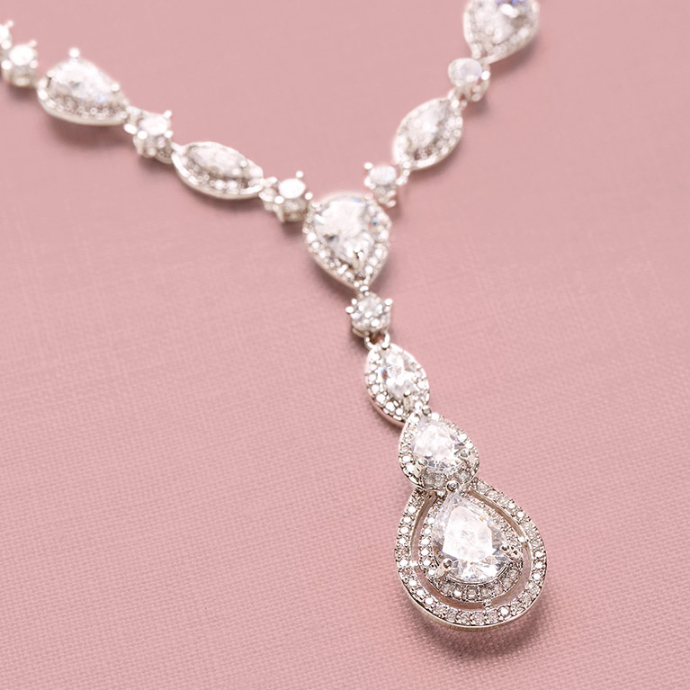 Cubic Zirconia Bridal Necklace