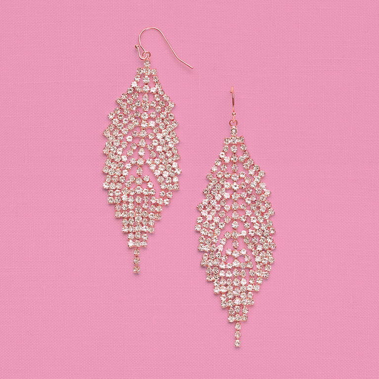 Special Occasion crystal chandelier earrings