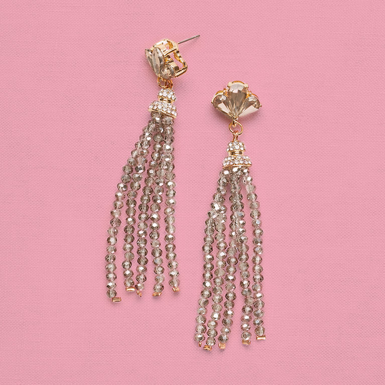 Affordable beaded drop prom earrings