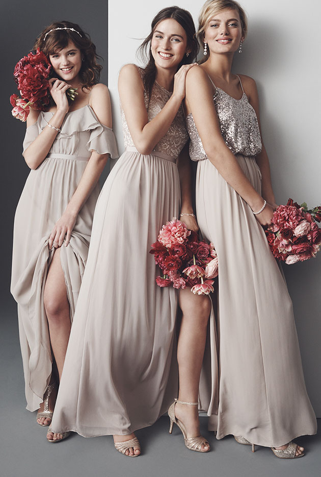 a796801552a5f Mismatched Bridesmaid Dress Styles, Colors | David's Bridal
