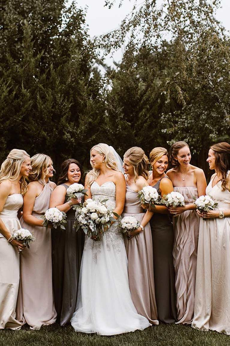 Mismatched bridesmaid dress styles davids bridal mismatched bridal party in neutral colors mismatched bridal party in neutral colors ombrellifo Choice Image
