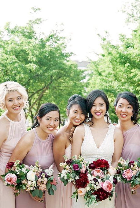 Ombre Bridal Party