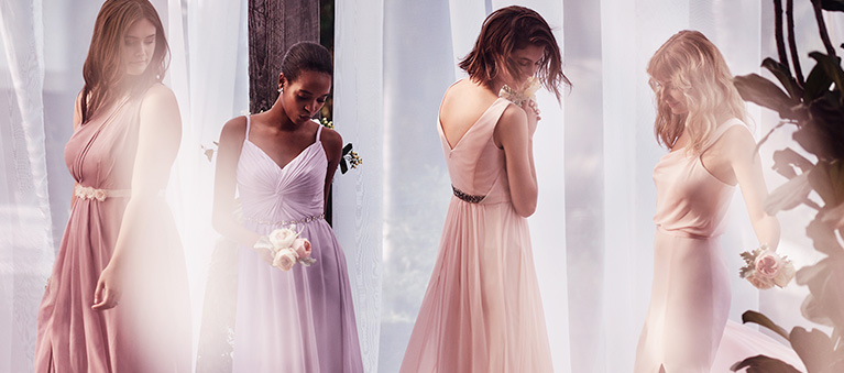 Mismatched Ombre Bridesmaid Dresses