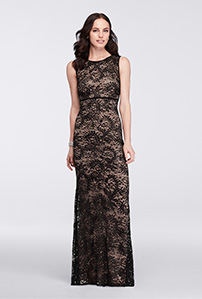 72a6e0b78d0 Black and Nude Sleeveless Sequin Lace Mother of the Bride dress