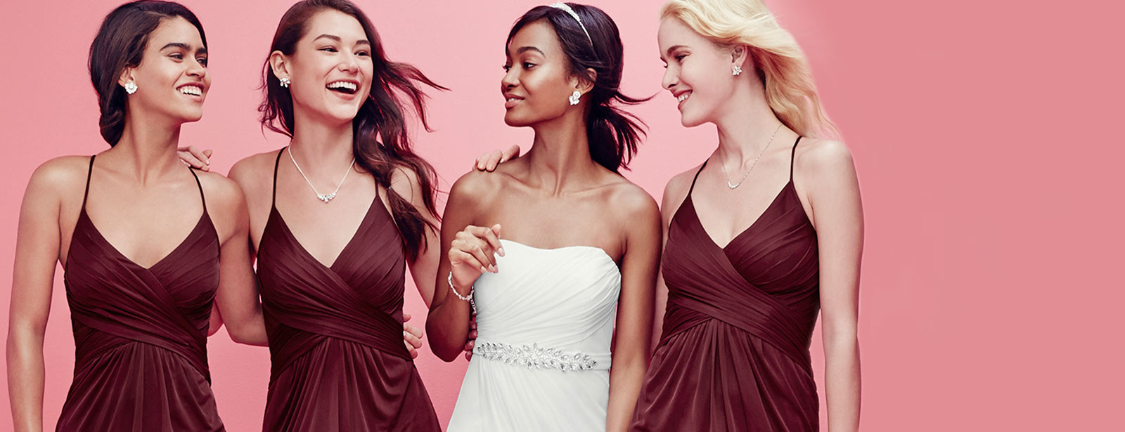 Mismatched bridesmaid dress styles colors davids bridal neckline jewelry guide ombrellifo Gallery