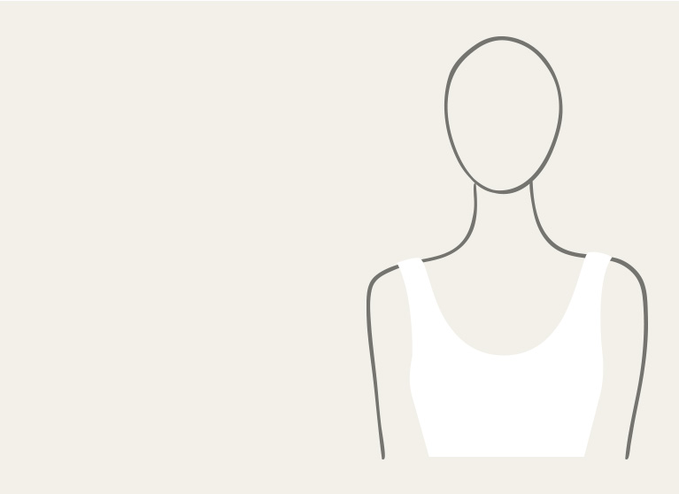 Silhouette of a scoop neckline dress